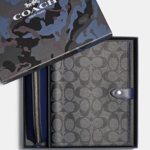 Coach Boxed Notebook and Pencil Case Set